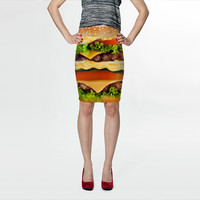 Burger Me! by Sonder Sky (Fitted Skirt)
