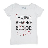 Faction Before Blood-Female White T-Shirt