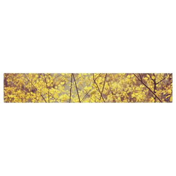 """Ingrid Beddoes """"Autumn Yellow"""" Table Runner - Outlet Item"""