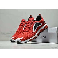 NIKE AIR MAX 720 Tide brand sports full palm cushion running shoes Red