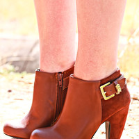 LEAD THE WAY BOOTIES IN CHESTNUT