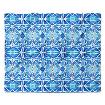 "Art Love Passion ""Blue Diamonds"" Blue Aqua Fleece Throw Blanket"