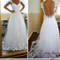 2013 new selling luxury cathedral wedding dresses, the royal wedding dress, royal wedding gown, lace wedding dress 1015001