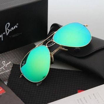 CREYGE2 Beauty Ticks Ray Ban Aviator Sunglasses Gold Frame Green Flash Lens Rb 3025