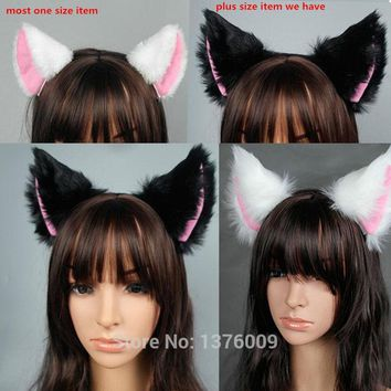 Cool PLUS SIZE Japan Anime Spice and Wolf Holo Cosplay Fox Ear Halloween Cat Meow Plush Ear Headband Hair Band Props GiftAT_93_12