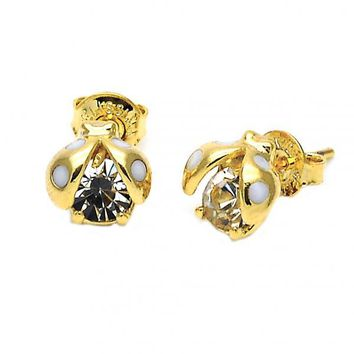 Gold Layered 02.09.0091 Stud Earring, Ladybug Design, Polished Finish, Gold Tone