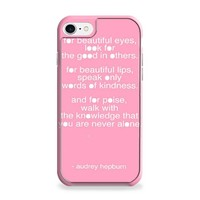 Audrey Hepburn Quote Pink Eye iPhone 7 | iPhone 7 Plus Case