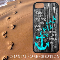 Anchor Wood Hope Quote Apple iPhone 4 4G 4S 5G Hard Plastic Cell Phone Case Cover Original Trendy Stylish Design