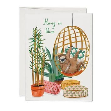 RED CAP CARDS CHAIR SLOTH CARD