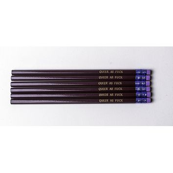 Queer as Fuck Pencil Set