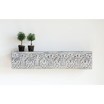 Distressed Zinc Finish Wall Shelf 41-3/4-in