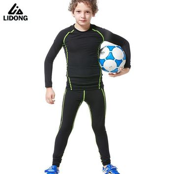 2017 New Kids Youth Compression Runing Pants Jerseys Survetement Football Boys Soccer