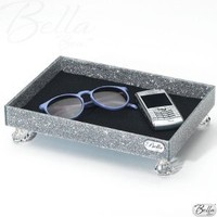 BellaBoxx Tray - Cosmetic/Makeup Organizer - Silver