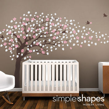 Vinyl Wall Art Decal Sticker Cherry Blossom Tree by SimpleShapes