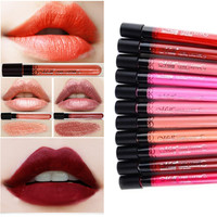 6PCS 6 Colors Waterproof Lip Gloss Matte Velvet Long Lasting Makeup Lipstick Pencil