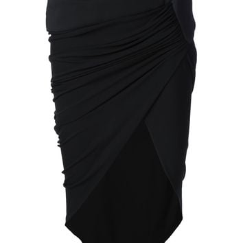 Alexandre Vauthier Fitted Wrap Skirt