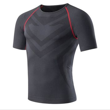 #6023 Men Sports Gym Jogging Compression Basketball Base Layers Under Tops Training Shirts Thermal Skins Gear Wear Vest M-XXL