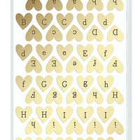American Crafts | Thickers | Dear Lizzy Foil Letter Stickers | Gold Hearts