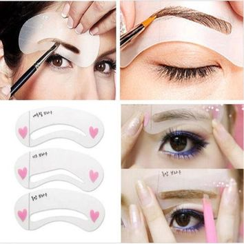 Eye Brow Grooming Stencil Shaping Kit