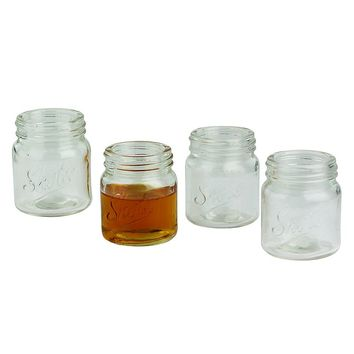 Barbuzzo Mason Jar 4-pc. Shot Glass Set (White)