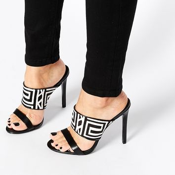 KG By Kurt Geiger Mono 2 Strap Mule Heeled Sandals