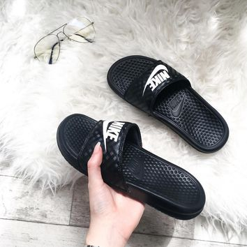 Nike Casual Fashion Sandal Slipper Shoes - Black