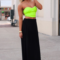 Happy Hour Maxi Skirt - Black