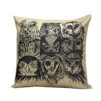 Owl pillowcase for the pillow 45*45 decorative throw pillows lovely pillow case vintage