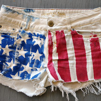 Stars and Stripes American DIY Shorts US 4