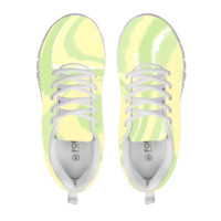 Lemon And Lime Swirl Pattern Running shoes Women