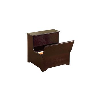 InRoom Designs 2-Step Manufactured Wood Storage Step Stool with 200 lb. Load Capacity (Dark Cherry)