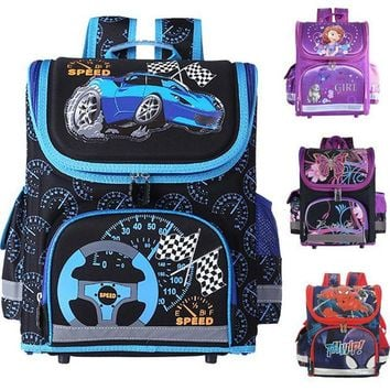 LMFCI7 Kids school Backpack monster high butterfly winx  EVA FOLDED orthopedic Children School Bags for boys and Girls mochila infantil