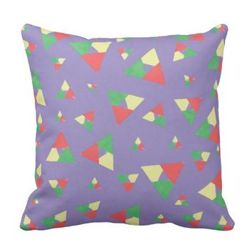 Triangle 2 throw pillow