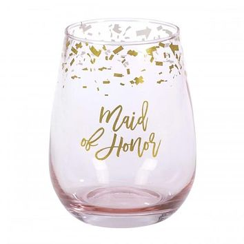 Stemless Wine Glass - Maid of Honor