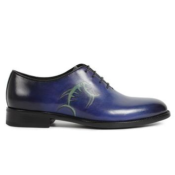 Handmade vintage Designer Fashion Luxury Party Wedding Dance Casual male dress shoe Genuine Leather Mens Oxford Shoes