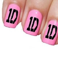 Sassy-Nailz One Direction 1D Nail Art Transfer Decal Wrap For False Acrylic Gel or Natural Nails