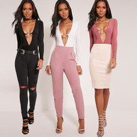 Sexy Erotic Romper Top Trousers Pants _ 12048