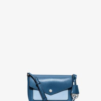 Greenwich Bi-Color Saffiano Leather Crossbody | Michael Kors