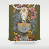 Desert Rose Shower Curtain by Julia Sonmi Heglund