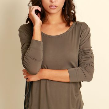 Favorite Long Sleeve Top Olive