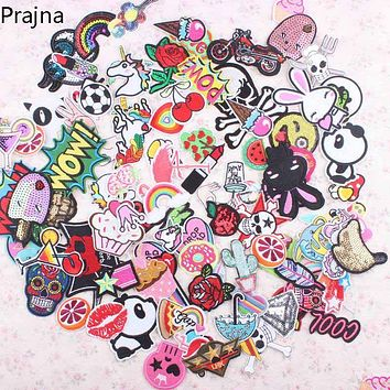 Prajna Random Mixed Anime Cartoon Cute Kawaii Patch Sew On Iron On Sewing Patches Cheap Embroidered Patches For Clothes