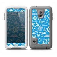 The Blue Nautical Collage Skin Samsung Galaxy S5 frē LifeProof Case