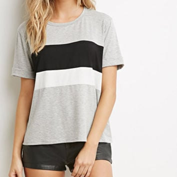 Heathered Colorblock Tee