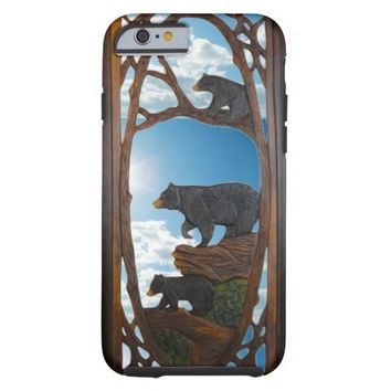 Rustic, Mama and Cubs on a Stroll iPhone 6 Case