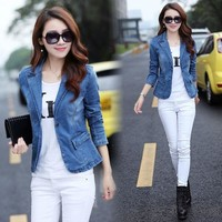 Women Blazers and Jackets Denim Jacket