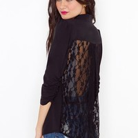 Lace Back Blazer  in  Clothes at Nasty Gal