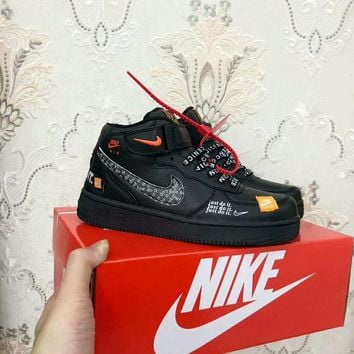 """""""Nike Air Force 1"""" Unisex Casual Fashion Letter High Help Plate Shoes Couple Sneakers"""
