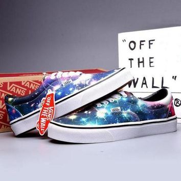 VLXZRBC VANS Canvas Old Skool Galaxy Print Flats Sneakers Sport Shoes