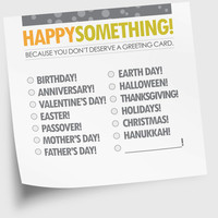 Funny Alternative Greeting Cards of a Sort Happy by NeatThings