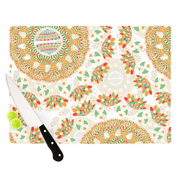 "Miranda Mol ""Bohemian Bright"" Geometric Multicolor Cutting Board"